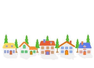 粘土の家5軒