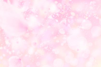 ピンクのきらきらした背景に舞う春の桜の花びら 5274