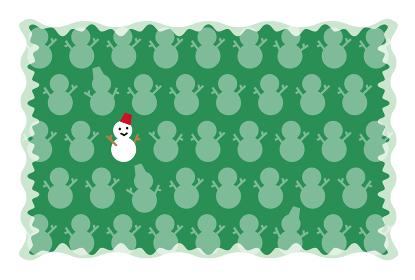 カード(クリスマス・雪だるま)