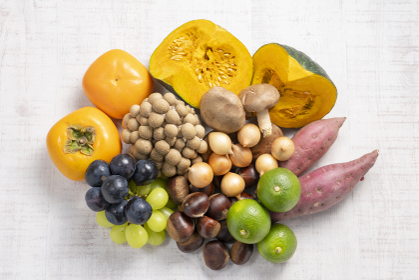 【秋の食材】秋の野菜と果物集号
