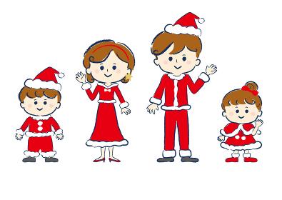 ファミリー、家族、笑顔、人物、クリスマス、ライフスタイル・生活、生活
