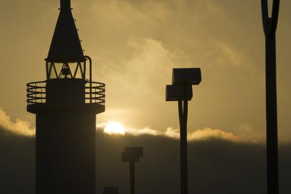 江の島白灯台の日の出