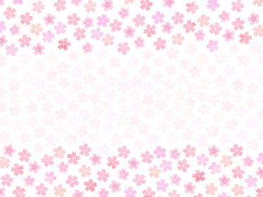 ピンク桜の小花模様背景 和風花柄模様