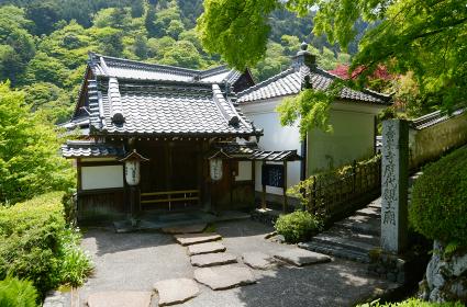 新緑の善峯寺 本坊入口の門 京都市西京区