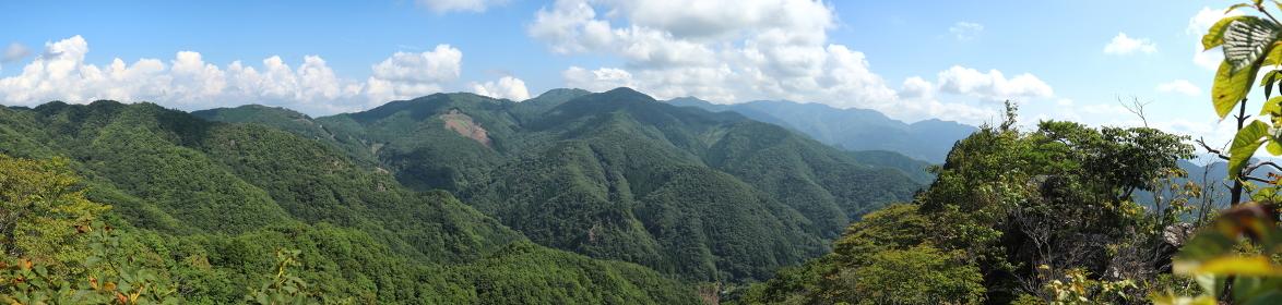 群馬県・笠丸山頂上からの眺望 (パノラマ)