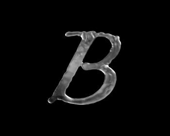 液体の文字 B