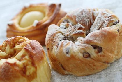 菓子パンや調理パンのクローズアップのイメージ写真