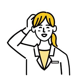 医師 医者 女性 ポップ 照れる 医療 表情