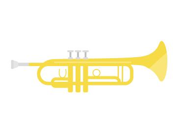 楽器のトランペットのイラスト