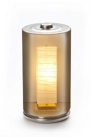 エコ電池と照明器具の環境イメージ