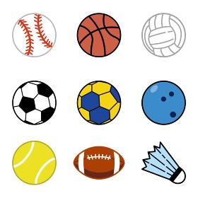 スポーツのボールアイコンセット