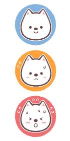 白柴犬の熱中症危険度メーターアイコンセット