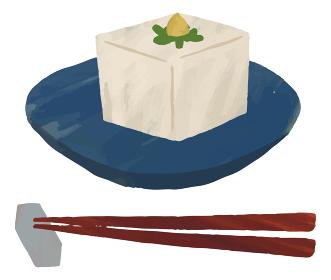 豆腐 箸 箸置き イラスト