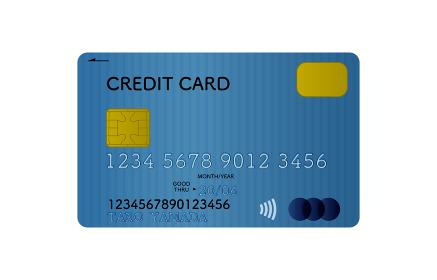 クレジットカード(青)の表面のイラスト