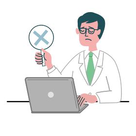 医師 医者 男性 パソコン バツ