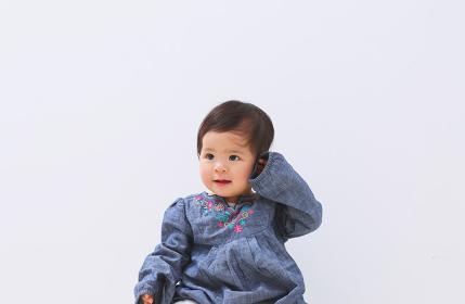 笑顔の日本人の赤ちゃん