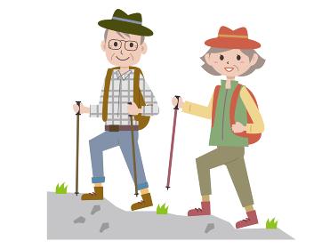 高齢者が登山する