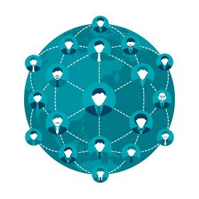 グローバルコミュニケーション・ヒューマンネットワーク・人と人とのつながり イメージイラスト