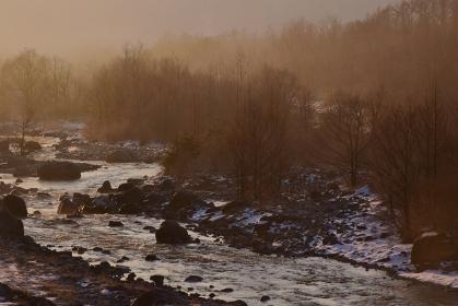 白馬村 冬景色