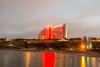 Baku - JUNE 29, 2015: Jumeirah Hotel on June 29 in Baku, Azerbaijan. Baku has many modern hotels. Baku - JUNE 29, 2015: Jumeirah Hotel on June 29 in Baku, Azerbai
