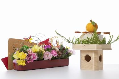 鏡餅と飾り花