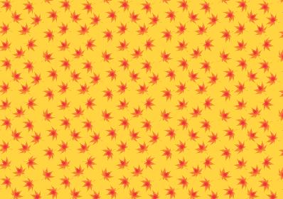 シンプルなモミジの背景 紅葉 秋のイメージ 総柄 パターン