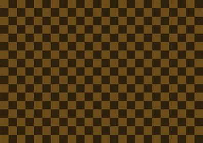 和紙 市松背景模様 茶色×黒