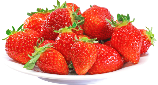 白いお皿に山盛りの完熟いちご 1134