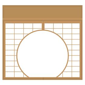 障子 丸窓 円窓 透過 イラスト素材 ベクター 単品
