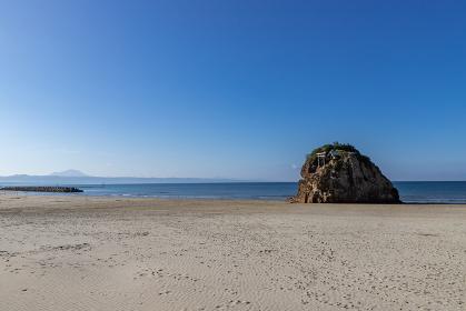 稲佐の浜の風景 島根県出雲市