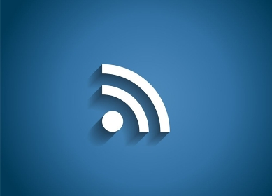 Wi-Fi Glossy Icon Vector Illustration on Blue Background. EPS10. Wi-Fi Glossy Icon Vector Illustration