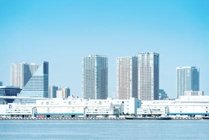 乱立するビル群と前方の海