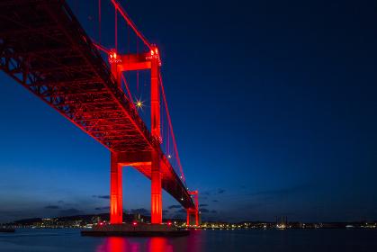 若戸大橋の夜景 福岡県北九州市