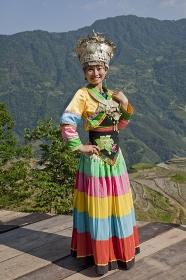 中国 桂林郊外 少数民族の女性