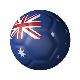 オーストラリアのサッカーボール型国旗
