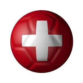 スイスのサッカーボール型国旗