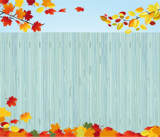 wooden fence in autumn