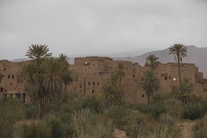 Old town in Atlas mountain range