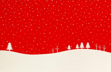 クリスマス 雪の背景 紙テクスチャ