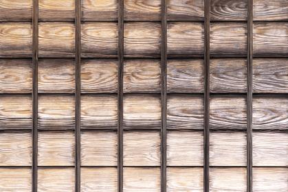 木製の和風建築の壁テクスチャ