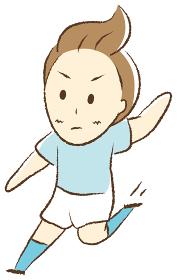 サッカーをする少年 スライディング