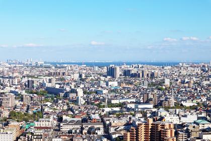船堀タワーホール展望台から眺めた街並み景観