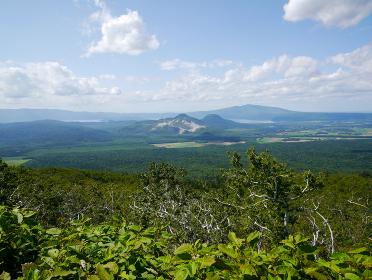 北海道摩周湖より屈斜路湖方面を望む