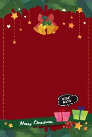 クリスマスカード 絵本の挿絵のような ほっこりイラスト(はがきサイズ 比率)