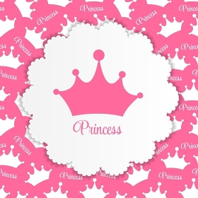 Princess  Background with Crown Vector Illustration EPS10. Princess  Background with Crown Vector Illustration