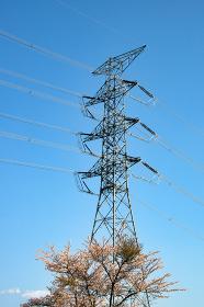 電源群馬 山の中に建設された巨大な送電線