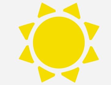 可愛い黄色の太陽