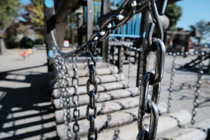 体幹を鍛える鎖の橋のアスレチック