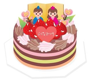 ひな祭りのチョコレートケーキ