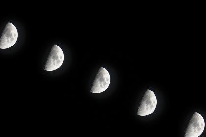 夜の月(多重露光・500mm)